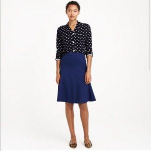 J Crew Structured A Line Black Skirt A9969 Size 6